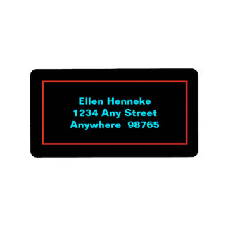 Neon Party Address Label