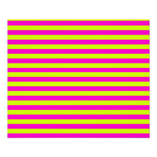 Neon Pink and Neon Green Stripes Photo Print