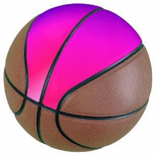 Neon Pink and Purple Basketball