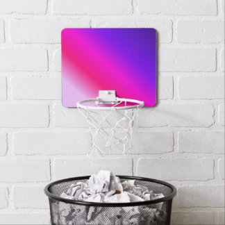 Neon Pink and Purple Stripes Mini Basketball Hoop