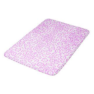 Neon Pink Cheetah Animal Print Bath Mats