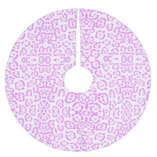 Neon Pink Cheetah Animal Print Brushed Polyester Tree Skirt