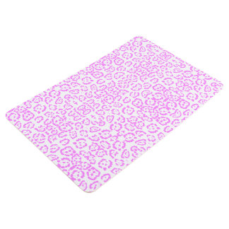 Neon Pink Cheetah Animal Print Floor Mat