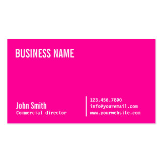 Neon Pink Commercial Director Business Card