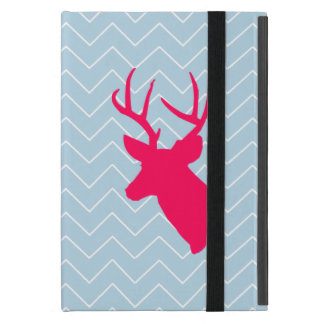 Neon Pink Deer Silhouette Cases For iPad Mini