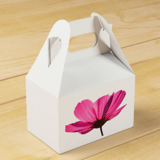 Neon Pink Flower and cute butterfly cardboard box