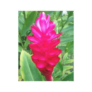 Neon Pink Flower Canvas Print