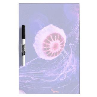 Neon Pink Jellyfish Dry Erase Board