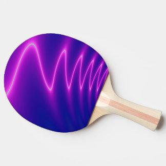 Neon Pink Lightning Ping Pong Paddle