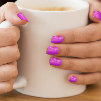 Neon Pink Purple Cloud Look Customizable Shields Nail Stickers