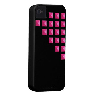 Neon Pink Pyramid Studs iPhone 4 Case