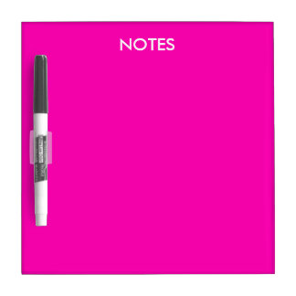 Neon Pink Solid Color Customize It Dry Erase Board