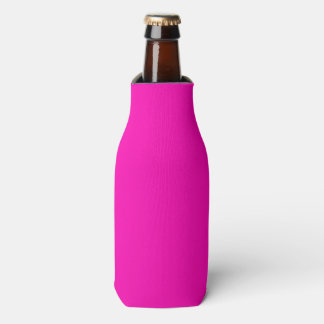 Neon Pink Solid Colour Customise It Bottle Cooler