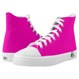 Neon Pink Solid Colour Customise It High Tops