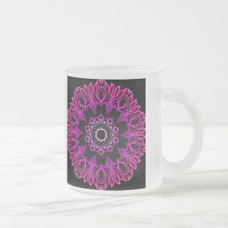 Neon Pink Space Flower Mug