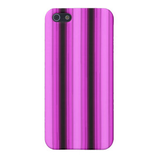 Neon Pink Stripes iPhone 5/5S Cases