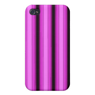 Neon Pink Stripes Cover For iPhone 4