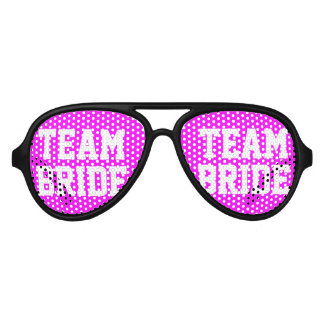 Neon pink Team Bride bachelorette party shades