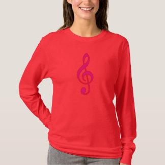 Neon Pink Treble Clef T-Shirt
