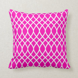 Neon Pink Trellis Pattern Cushion