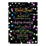 Neon Pink Turquoise Polka Dots Bridal Shower