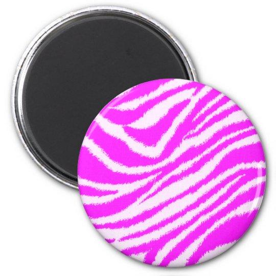 Neon Pink Zebra Magnet