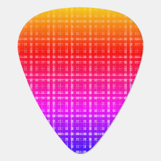 Neon Plaid Ombre Plectrum