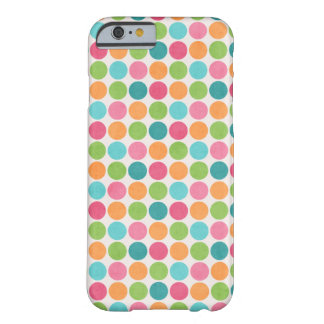 Neon Polka Dots White Skin Barely There iPhone 6 Case