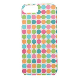 Neon Polka Dots White Skin iPhone 7 Case