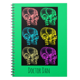 Neon Pop Art Skulls Notebook