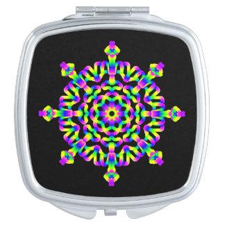 *~* Neon Powerful Mandala Healing Arts Compact Mirror