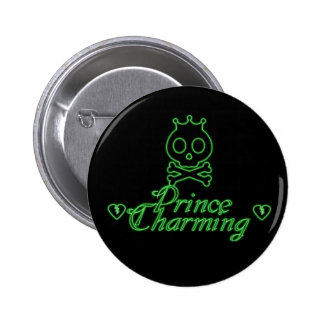 Neon Prince Charming Button