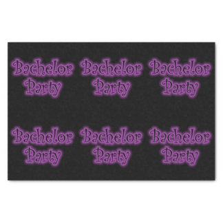 Neon Purple Bachelor Party Tissue Paper