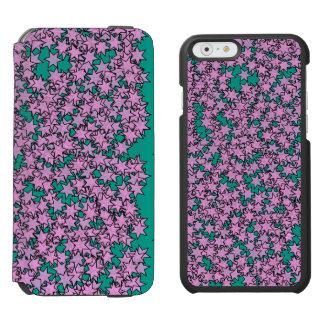 Neon Purple Green Turquoise Stars Incipio Watson™ iPhone 6 Wallet Case