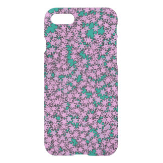 Neon Purple Green Turquoise Stars iPhone 8/7 Case