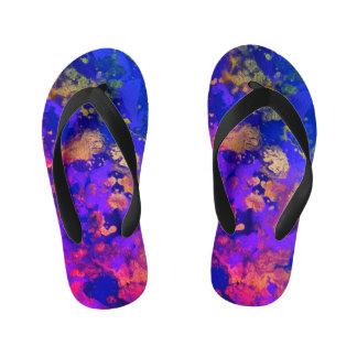 Neon Purple Haze Kid's Thongs
