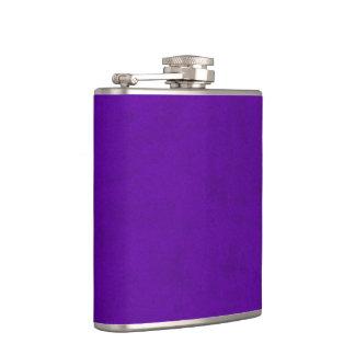 Neon Purple Velvet Personalized Home Casino Flasks