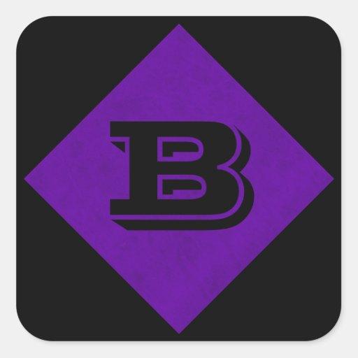 Neon Purple Velvet Personalized Home Casino Square Sticker