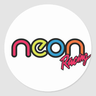 Neon Racing Stickers