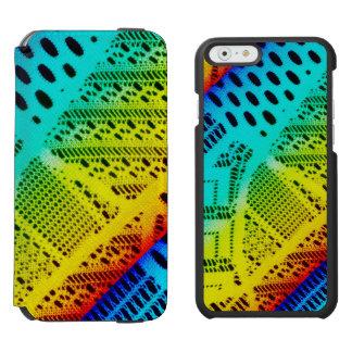 Neon Rainbow Lace Bright Colorful Incipio Watson™ iPhone 6 Wallet Case