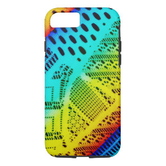 Neon Rainbow Lace Bright Colorful iPhone 8/7 Case