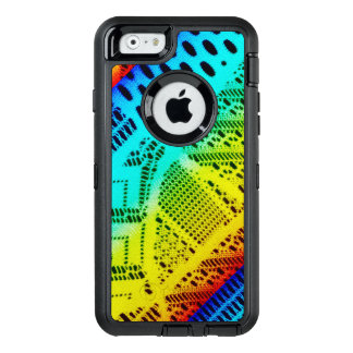Neon Rainbow Lace Bright Colorful OtterBox Defender iPhone Case