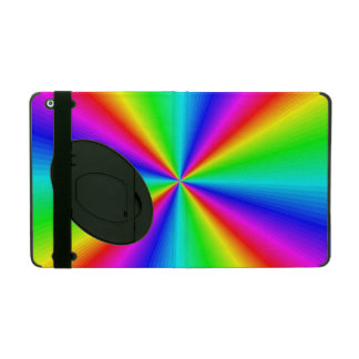 Neon Rainbow Prism iPad Case