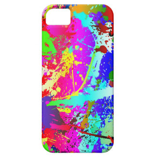 Neon Rainbow Splatter iPhone 5 Covers