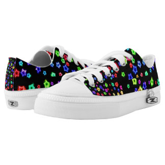 Neon Rainbow Stars Low-tops