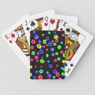 Neon Rainbow Stars Playing cards