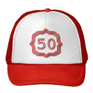 Neon Red 50 Cap