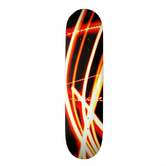 Neon Red and Orange Skate Board