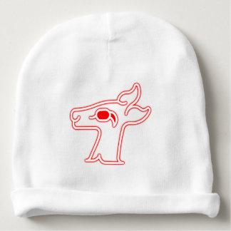 Neon Red Deer Baby Beanie
