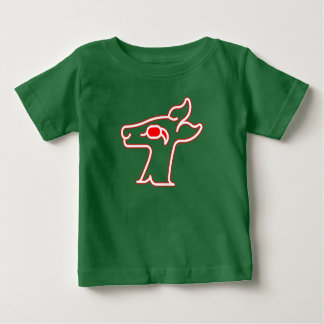 Neon Red Deer Baby T-Shirt